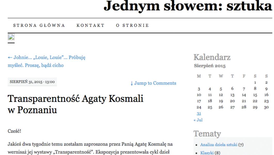 Agata Kosmala_jednym_slowem_sztuka